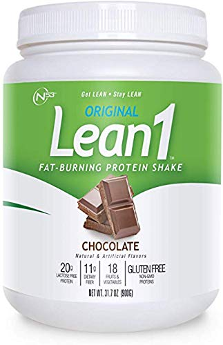 Nutrition 53 Lean 1 Meal Replacement Powder for Weight Loss, Fat Burner, Appetite Control Regular Tub 2500cc Chocolate (15 Servings)