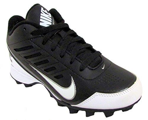 Nike Boy's Black/White Land Shark 3/4 BG Football Cleat US 4Y - Image 1