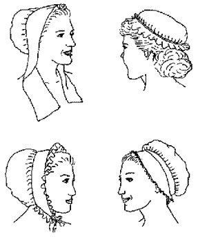Stuart Era Costumes (18th Century Women's Caps pattern)