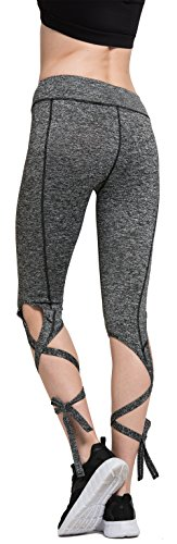 Cuff Leggings (sel sobek Legging Capris String-End Dance Pants - Cutout Tie Cuff Slim Straps Yoga Jogger Workout Tights)