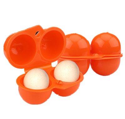 ポータブル卵ストレージボックスコンテナ折りたたみ卵ホルダーキャリアforアウトドアキャンプピクニック B0757JBPTX  オレンジ