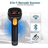 Handheld Wireless & USB Wired Bluetooth Barcode Scanner POS Gun Bar Code Reader- Sold by Ed&Em!