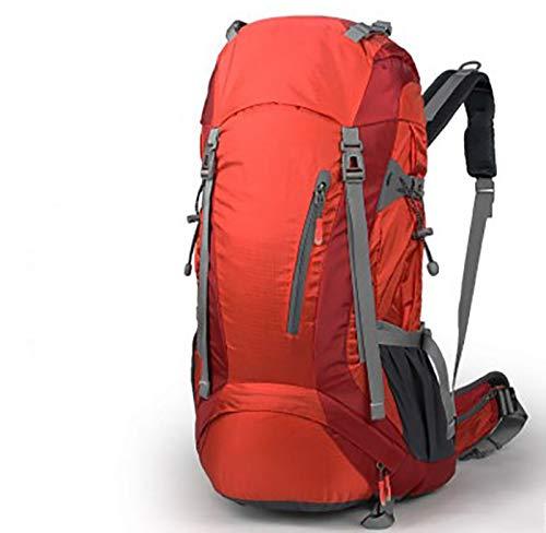 キャンプ用バックパック アウトドア登山バッグ大容量多機能通気レジャースポーツキャンプビジネス旅行多機能バックパック 軽量 (色 : 赤)  赤 B07R8D2C3S