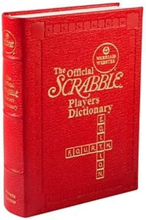 Red Leather-Bound Merriam-Webster Official Scrabble Players Dictionary by Graphic Image -