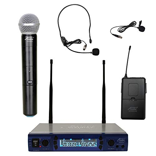 Audio2000's AWM6952ULX UHF Dual Channel Wireless Microphone System