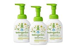 Babyganics Foaming Hand Soap, Chamomile Verbena,  8 oz Pump Bottle (Pack of 3)