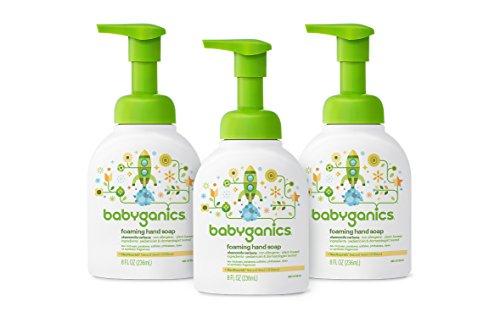 Babyganics Foaming Hand Soap, Chamomile Verbena,  8 oz Pump Bottle (Pack of (Cleaner 8 Ounce Pump)