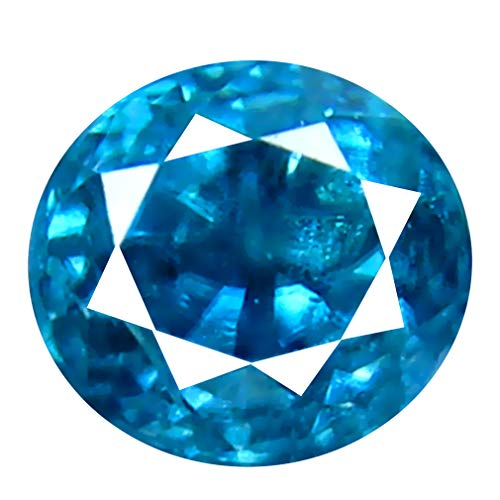 Deluxe Gems 0.58 ct Oval Cut (4 x 4 mm) Untreated Cambodian Blue Zircon Natural Loose Gemstone