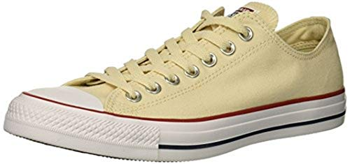 (Converse Chuck Taylor All Star Low Top Sneakers, Natural Ivory, 3 M US)