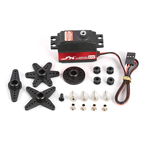 Detectoy JX PDI-HV2546MG 25g Metal Gear Digital High Voltage Tail Servo Coreless Motor for RC 450 500 Helicopter Fixed-wing (Metal Tail Gear)