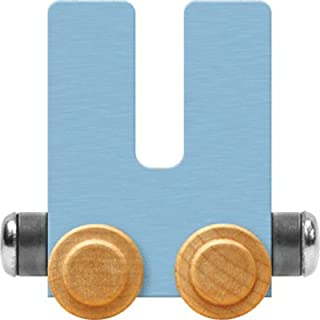 product image for Maple Landmark NameTrain Pastel Letter Car U - Made in USA (Blue)