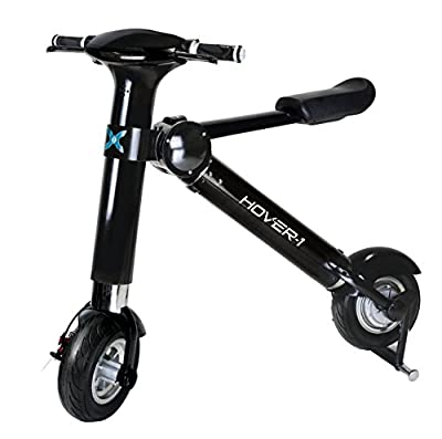 Hover-1 xLS Folding Electric Scooter And Urban E-Bike, Electric Bike With 20 MPH Max Speed, 22-Mile Radius, 250 Watts, Black,HY-HBKE-BLK