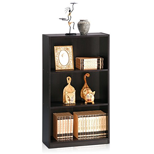 Furinno 99736EX Basic 3-Tier Bookcase Storage Shelves, Espresso by Furinno (Image #3)