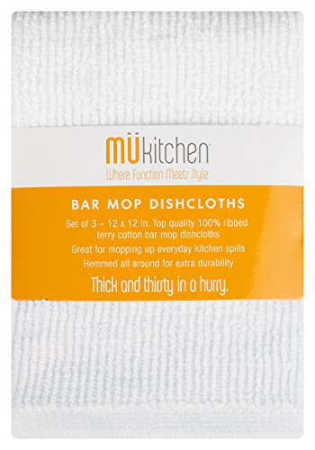 MUkitchen 26610-1200 Kitchen Cloth Cotton Bar Mop Dishcloth Set, 12