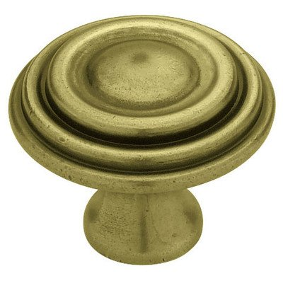 Circles and Scrolls Mushroom Knob Finish: Tumbled Antique Brass (Scroll Circle Pendant)