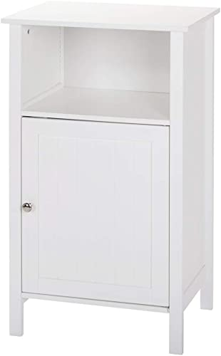 SoSo-BanTian1989 White Finish Nightstand Side End Table Bathroom Cabinet