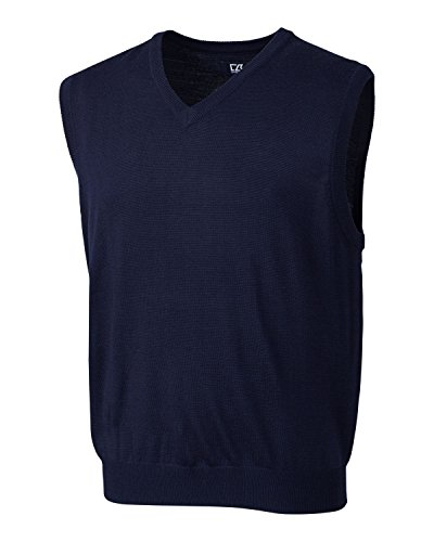 Cutter & Buck MCS01432 Mens Douglas V-Neck Vest, Liberty Navy-XXL