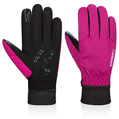 Lapulas Mens Winter Gloves, Womens Thermal Gloves Warm Gloves Waterproof Windproof Anti-Slip Running Cycling Gloves for Driving Running Skiing, Outdoor Activities
