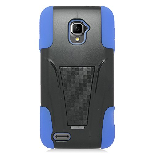 Eagle Cell Hybrid Protective Case with Stand for ZTE Rapido LTE Z932L - Retail Packaging - - Phone Cover Lte Zte Rapido For