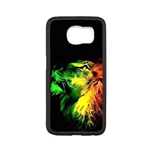Red Yellow Green Magic Rasta lion Custom Case Cover for SamSung Galaxy S6(Laser Technology)