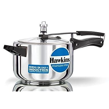 Hawkins Stainless Steel 4.0 Litre Pressure Cooker