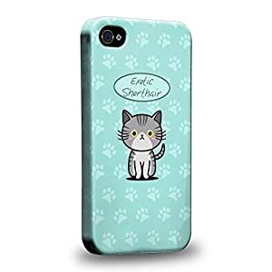 Diy iPhone 6 plus The most popular Art Collections Hand Drawing Cartoon kitten exotic shorthair Protective Snap-on Hard Back Case Cover for Apple iPhone 6 plus