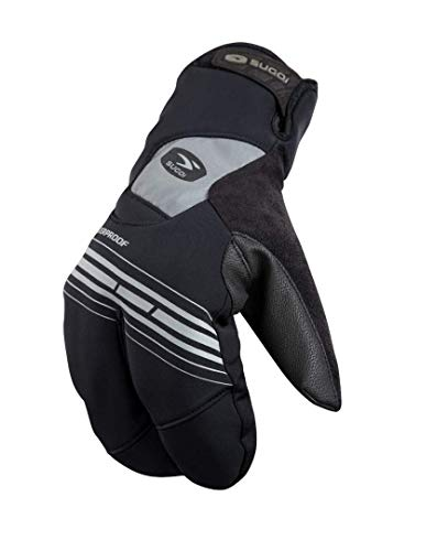 Sugoi Zap Subzero Split Glove, Black, Large