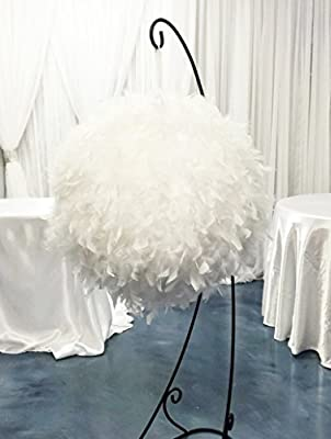 "White Feather Ball Centerpiece Large 60"" Round Wedding Decoration Party"