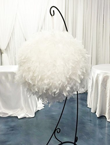 White Feather Ball Centerpiece Large 60