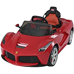 Aosom 12V Ferrari LaFerrari Kids Electric Ride On Car with MP3 and Remote Control - Red