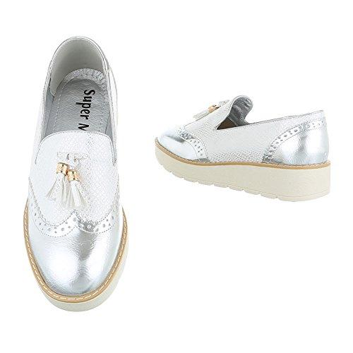 Design casa plata Zapatillas Mujer de Ital wnURqYFa8n