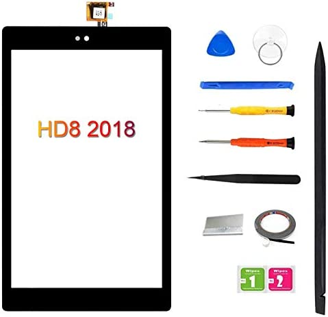 Original Quality Screen Replacement for Amazon Kindle Fire HD8 HD 8 eighth Gen 2018 L5S83A, 8Inch Touch Screen Digitizer + Full Repair Kit
