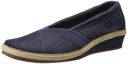 Grasshoppers Womens Misty Slip-On Wedge Denim