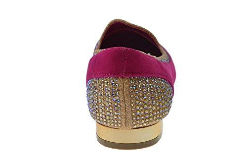 Daisy 02 Kvinna Glitter Rhinestone Loafers Fushia