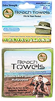 Lightload Towels Se adapta a tu bolsillo - Toalla de natación grande sin microfibra comprimida, de secado rápi