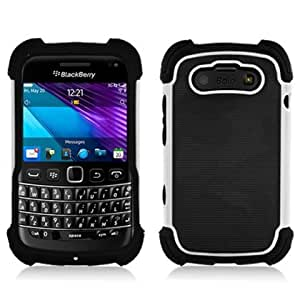Bundle Accessory for Blackberry Bold 9790 - Hybrid Designer Hard & Soft/ Black & white Case Protector Cover + Lf Stylus Pen+Luckiefind Screen Cleaner/wiper
