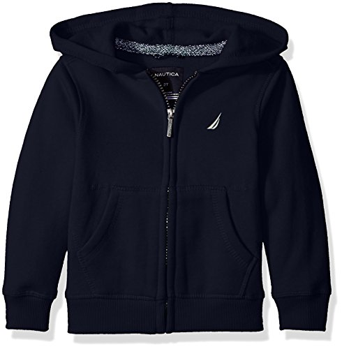 Embroidery Navy Blue Hoodie - 1