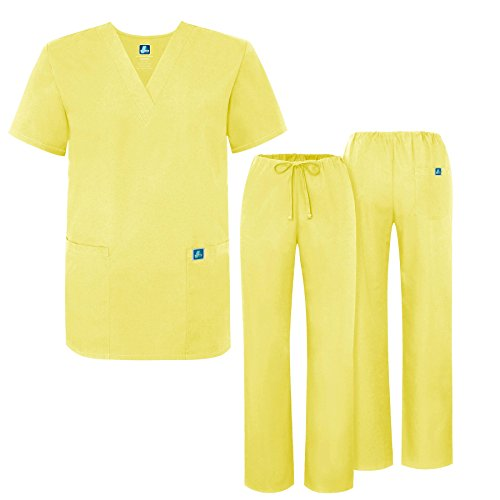 82e6ecf917b Adar Universal Medical Scrubs Set Medical Uniforms - Unisex Fit - 701 - BAN  -XS - Buy Online in Oman. | Apparel Products in Oman - See Prices, ...