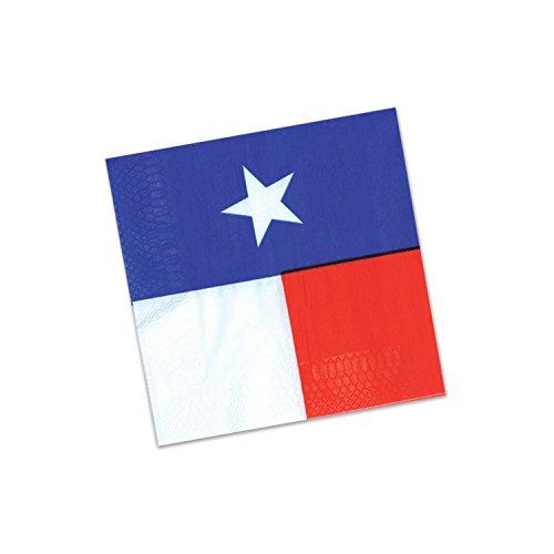 Beistle 58167 Texas Beverage Napkins