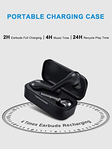 Wireless Earbuds, TWS Bluetooth 5.0 Earphones Bluetooth Headphones in-Ear, Auto-Pair Wireless Headphones with High Definition Mic, Stereo Sound, Touch Control, 25H Playtime, No Audio Delay