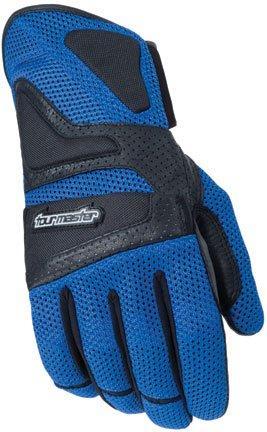 (Tour Master Intake Air Men's Textile Street Racing Motorcycle Gloves - Blue / Medium)