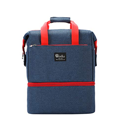 Goddessvan Fashion Women's Solid Color Multi-Function Mummy Bag Handbag Shoulder Bag Softback Laptop Bag Blue