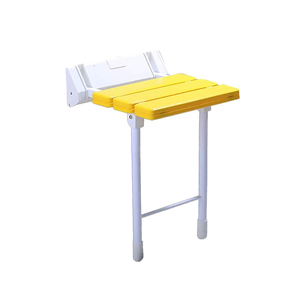 シャワーチェア 寝室のバスシートのシャワーベンチ障害者用&ハンディキャップ、折りたたみ式の高齢者用シャワーチェア&壁用ツール (色 : イエロー いえろ゜) B07J1SD8XY イエロー いえろ゜ イエロー いえろ゜
