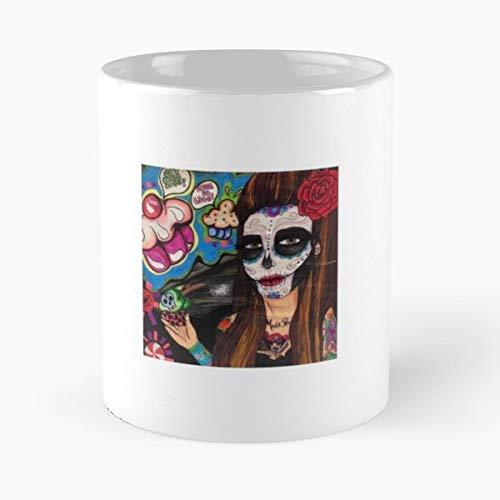Grunge Tattoos Cake Eat Funny Floral Coffee Mugs Gifts