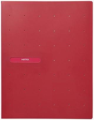 Favorit 400083551 Portalistino Matrix con 40 Buste lisce Rosso Porpora Formato Interno 22X30 cm