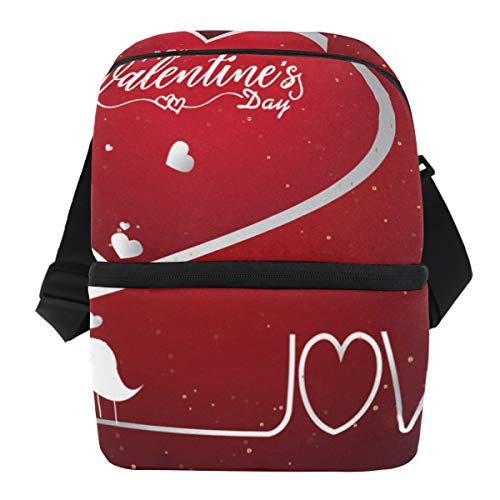 5b851be1585c Lunch Bag Valentine's Day Poster Calligraphy Insulated Cooler Bag Adult  Leakproof Refrigerator Organizer Zipper Tote Bags for Boating