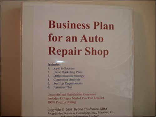 Business Plan for an Auto Repair Shop Professional Fillinthe – Business Plan For Auto Repair Shop