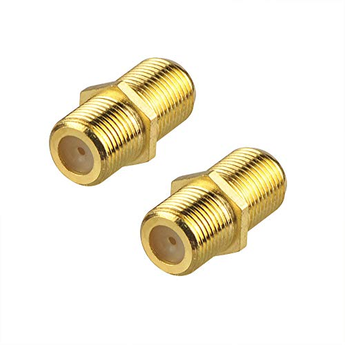 - VCE (2-Pack) Gold Plated F-Type Coaxial RG6 Connector,Cable Extension Adapter Connects Two Coaxial Video Cables