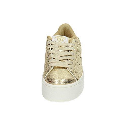 XTI , Damen Schnürhalbschuhe, gold - gold - Größe: 39