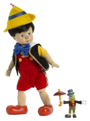 (Madame Alexander Dolls Pinocchio Wooden Sculpt and Jiminy Cricket , 8